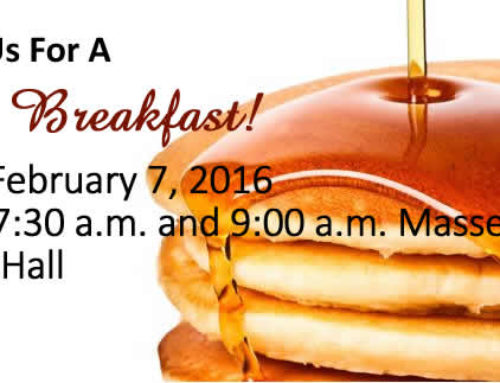 Join Us for a Pancake Breakfast – February 7, 2016